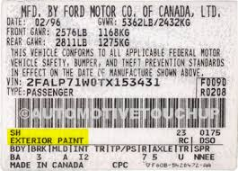 ford focus colour code ford paint code locations touch up paint automotivetouchup