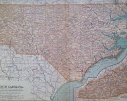 nc state cus map nc state map etsy