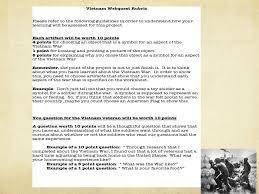the vietnam war webquest mrs ewer 7 th grade honor u0027s reading