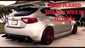 subaru hatchback wing first flared subaru wrx in fl widebody subaru wrx hatchback on