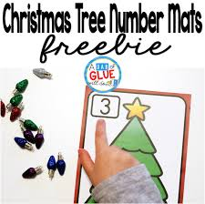 christmas tree number printable math manipulatives a dab of glue