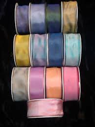 ribbon with wire vintage 1 5 viscose ribbon with wire 1 yard made in