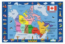 Map Alberta Canada by Fun Rugs Fun Time Map Of Canada Kids Rug U0026 Reviews Wayfair