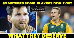 Memes De Lionel Messi - ab de villiers of football lionel messi announces his retirement
