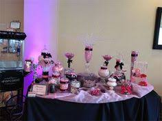 Pink And Black Candy Buffet by San Kelly Dessert Table Candy Table And Wedding