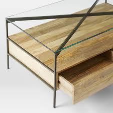 west elm industrial storage coffee table west elm glass coffee table writehookstudio com