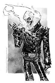 ghost rider inks by rogercruz on deviantart