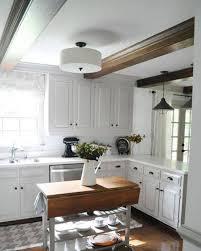 Overhead Kitchen Lights Semi White Drum Flush Mount Overhead Kitchen Lighting Flush