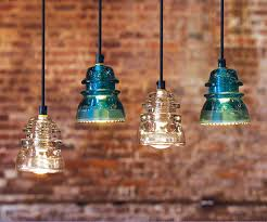 Antique Insulator Pendant Lights Put A Bulb In It 24 Upcycled Pendant Lights Made From Thrifty