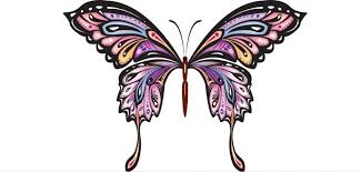 colorful butterfly design tattoos colorful