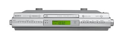 kitchen clock radio under cabinet amazon com sony icfcdk50 under cabinet kitchen cd clock radio