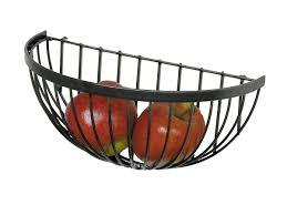 amazon com enclume wire fruit basket hammered steel kitchen