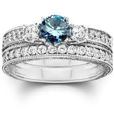 Blue Diamond Wedding Rings by Blue U0026 White Diamonds U2013 Bliss Diamond