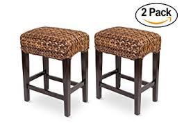 amazon com bird rock home seagrass backless counter stool set