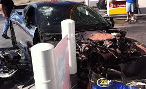 corvette car crash chrome c7 corvette crashes in california gtspirit