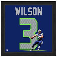 Seattle Seahawks Toaster Seahawks Russell Wilson Framed Jersey Photo