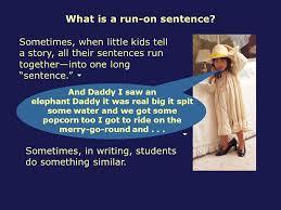correcting run on sentences ppt