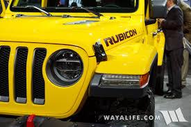 yellow jeep wrangler unlimited 2017 la auto show yellow jeep jl wrangler rubicon unlimited