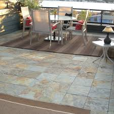 Patio Floor Designs Outdoor Slate Tile Discover Your Patio Flooring Options Regarding