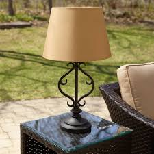 Patio Table Lights The Solar Powered Patio Table L Hammacher Schlemmer