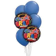 balloon arrangements for graduation graduation balloon bouquet blue congratulations grad