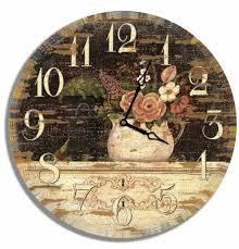 customize 30cm vintage plywood small digital round cheap antique