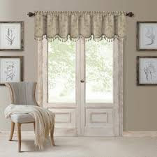 mia 52 in w x 19 in l polyester blackout woven window curtain