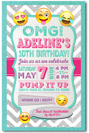 emoji birthday invitations di 625 harrison greetings business