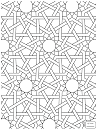 arts culture islamic ornament mosaic coloring pages for