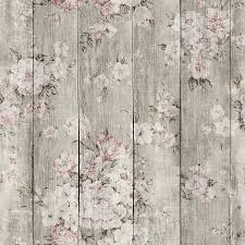 Temp Wallpaper by Wood Texture Floral Removable Wallpaper Adhesive Wallpaper