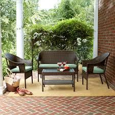 kmart patio furniture jaclyn smith patio decoration jaclyn smith reece 4 piece brown wicker outdoor set in green kmart