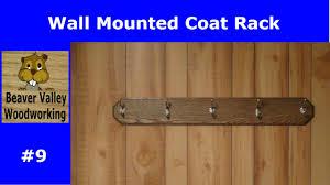 wall mounted coat rack 9 youtube