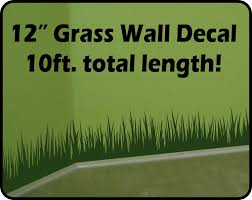 Removable Wall Decals For Bedroom Tall Grass Wall Decal Border 10 Ft Total Length Removable