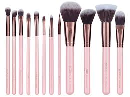 cruelty free rose gold collection 12 piece makeup brush set
