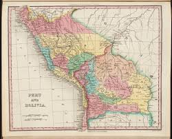 Old Map South America by Historic Map Of Peru U0026 Bolivia 1850 The Ancient Border U2026 Flickr