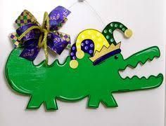 mardi gras alligator mardi gras door hanger alligator door hanger whimsical alligator