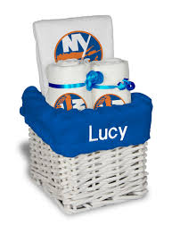 nyc gift baskets personalized new york islanders small gift basket nhl baby gift