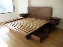Wood Platform Bed Frame Platform Bed Brown Wood Platform Bed Frame For Ideas