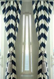 Navy Chevron Curtains Sale Pair Of Two 25 Cotton Navy Blue Chevron Curtains