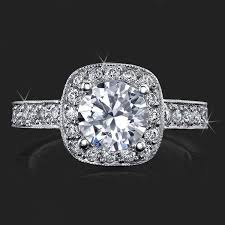 all diamond ring unique style halo engagement ring with ultra diamonds high quality