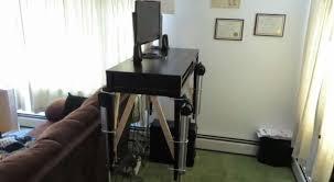 High Tech Desk High Tech Convertible Desk Takes It Up A Notch Hackaday