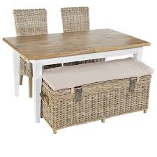 Wicker Storage Bench Washed Rattan Storage Bench By The Orchard Furniture
