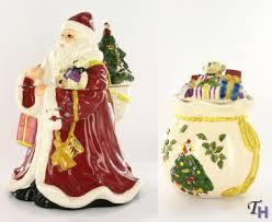 father christmas cookie jar u0026 toy bag candy jar 2 pc set by spode