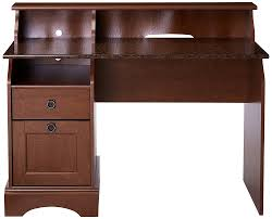 Secretary Desk With Drawers by Amazon Com Sauder Graham Hill Desk Autumn Maple Finish Kitchen