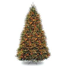 three posts fir hinged green artificial tree with top 10