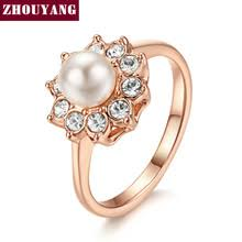 aliexpress buy brand tracyswing rings for women pearl gold ring reviews online shopping pearl gold ring reviews