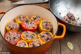 smoky paprika stuffed bell peppers with smoky paprika sauce vikalinka