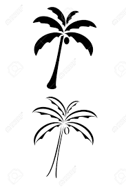 a black tribal palm tree royalty free cliparts vectors
