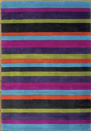 Modern Stripe Rug Jazz Modern Stripes Rug Multi Purple Orange Green Ow Jazz