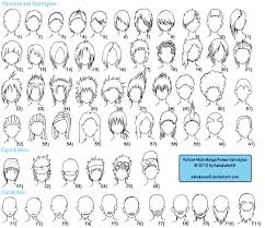 shonen hairstyles reference list by ayametakame on deviantart